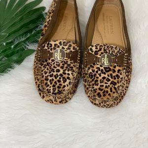 Ralph Lauren Brown Leopard Suede loafers for Women